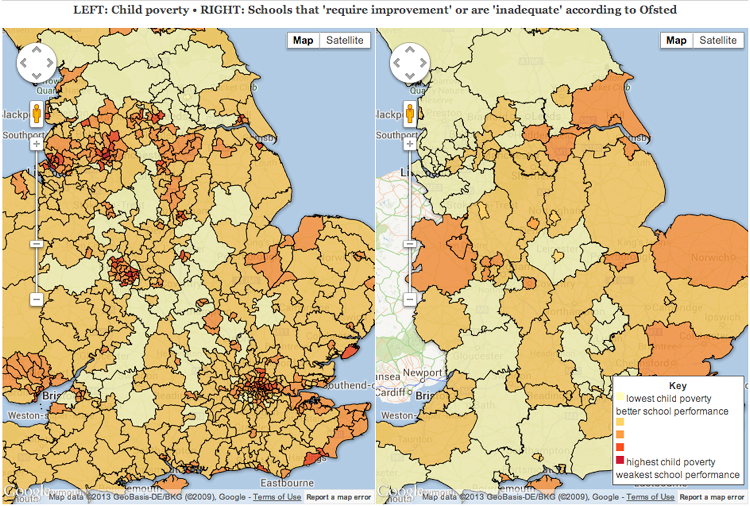 are the worst schools really in the poorest areas?