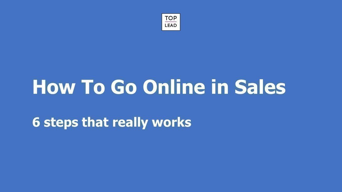 6 Necessary Steps To Go Online