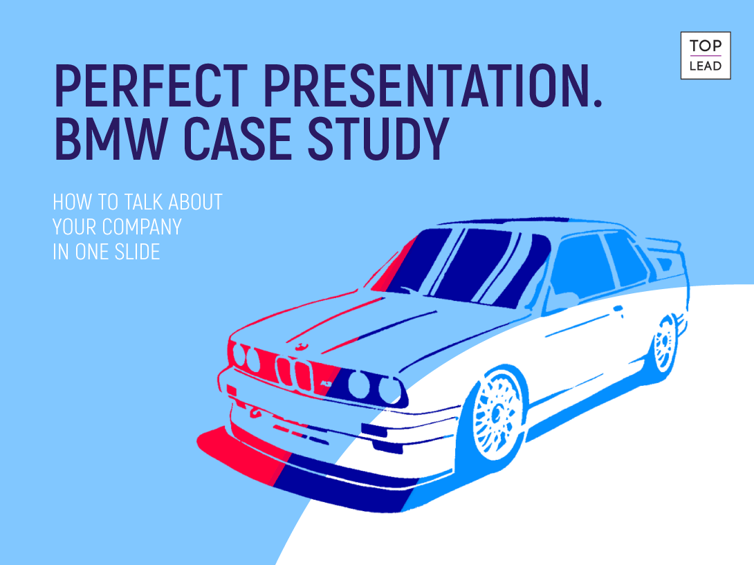How to talk about your company in one slide — an example from BMW