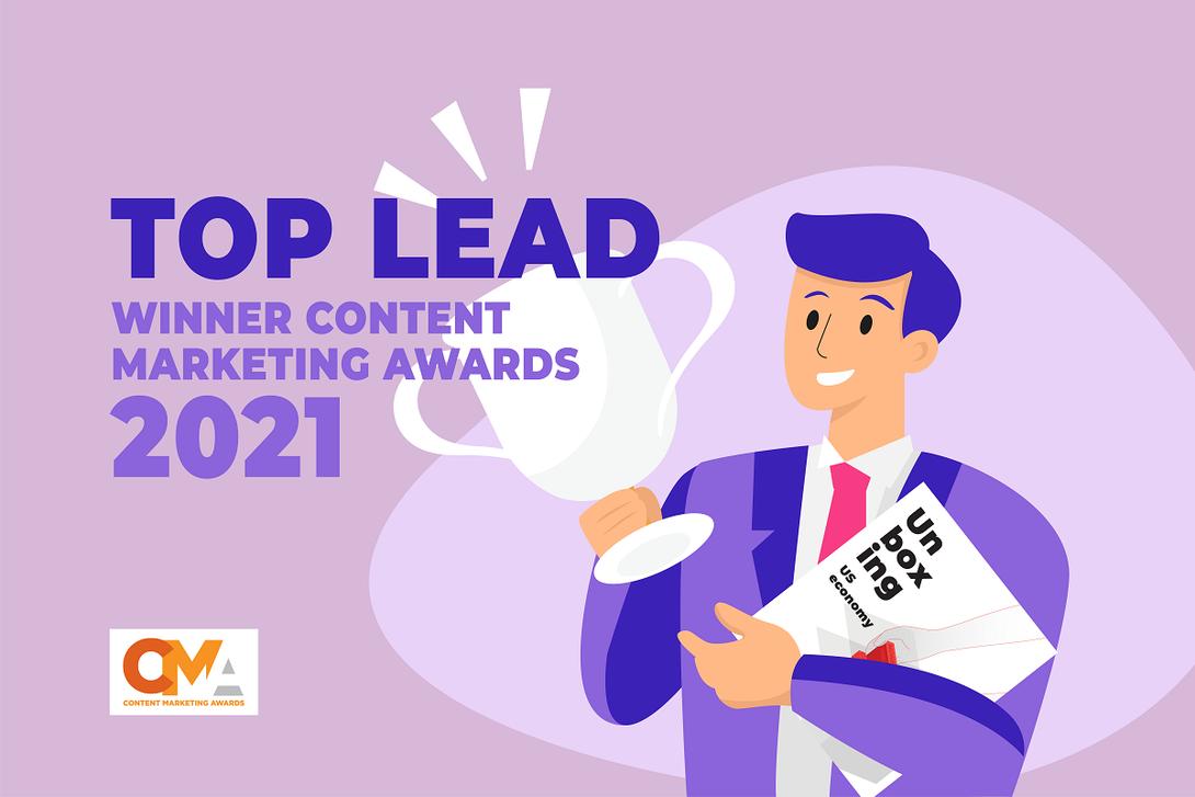 Top Lead Wins a Prestigious 2021 Content Marketing Award