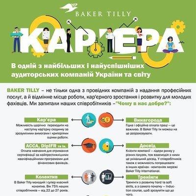 Карьера в одной из крупнейших и самых успешных аудиторских компаний Украины и мира