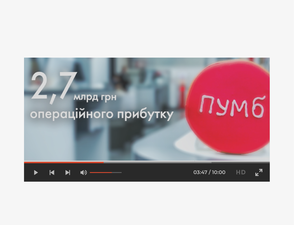 What was the bank in 2015? — Annual report website with video graphics