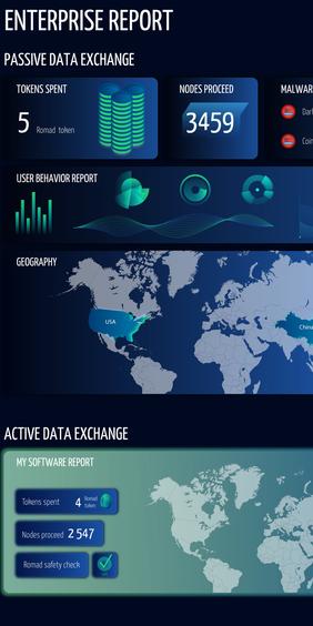 Enterprise Report infographics — Romad